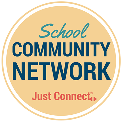 School Community Network logo- Just Connect